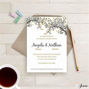 diy printable wedding invitation template black gold leaves With diy wedding invitations reviews