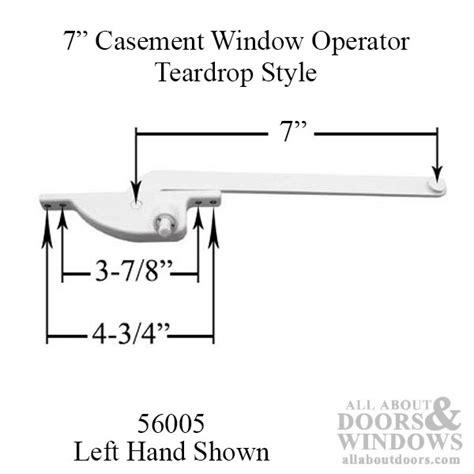 arm steel casement window operator teardrop white choose handing