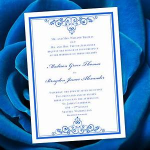 royal blue wedding invitation template editable microsoft With free printable wedding invitations royal blue