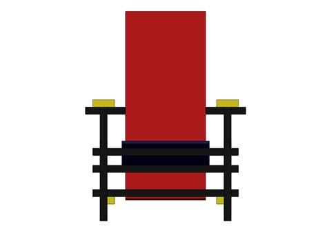 la chaise et bleue la chaise et bleue de rietveld