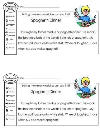 printable editing worksheets grammar spelling punctuation capitalization