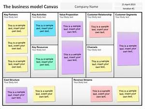 Business Model Canvas Template Template Business