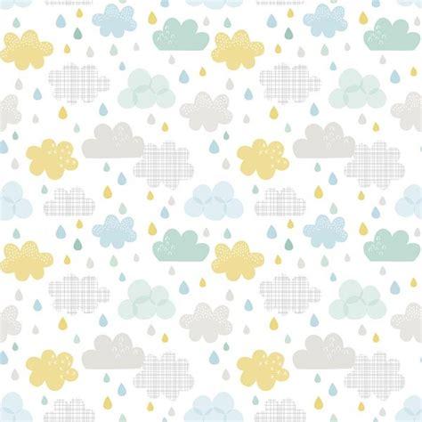 theme chambre garcon papier peint enfant nuages et gouttes