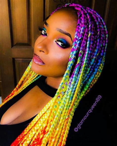box braids colors box braids with color 30 colored box braids styles