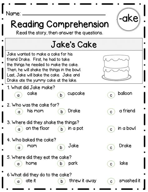 Reading Comprehension Stories & Questionslong Vowel Familiesdifferentiated  Long Vowels, 30th