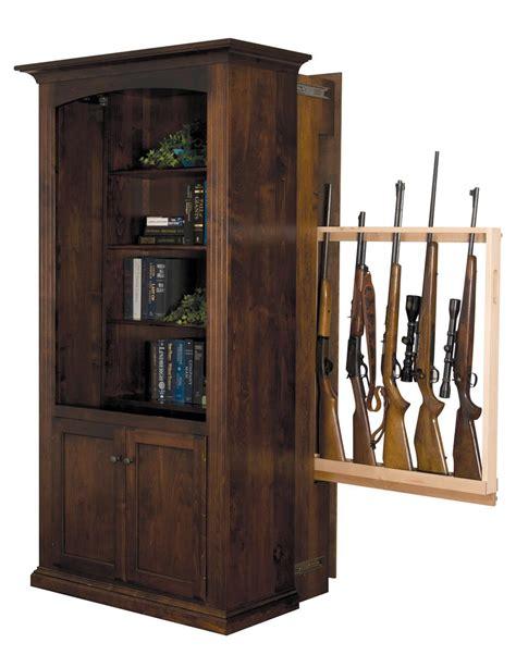 hidden wood gun cabinet handcrafted bookcase with hidden gun cabinet from