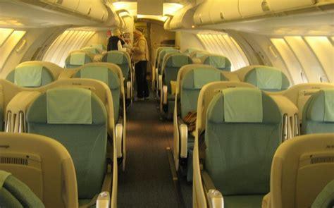 airplane pics korean air  upper deck business class cabin