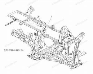 Polaris Atv 2012 Oem Parts Diagram For Chassis Frame