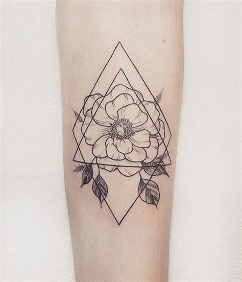 geometric flower tattoo   italiano diablo  madrid