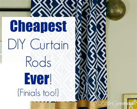 diy curtain rods finials