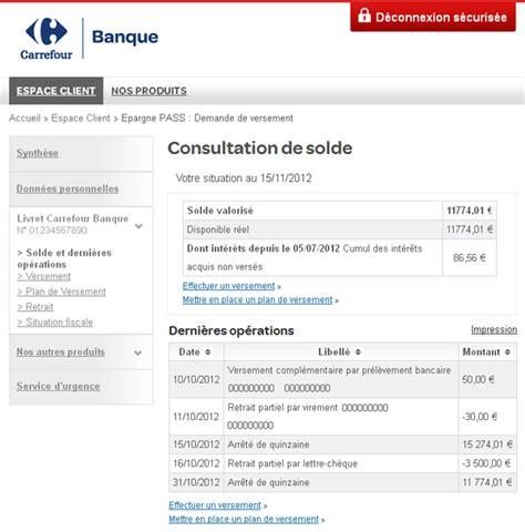 siege carrefour banque opérations en ligne du livret carrefour banque