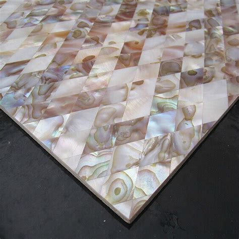of pearl shell mosaic backsplash tiles
