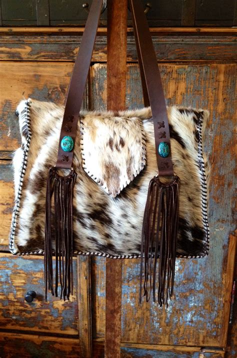 Hair On Cowhide - one of a handcrafted hair on cowhide purses totes