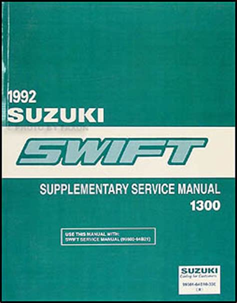 free car repair manuals 1992 suzuki swift security system 1992 suzuki swift 1300 repair shop manual supplement original