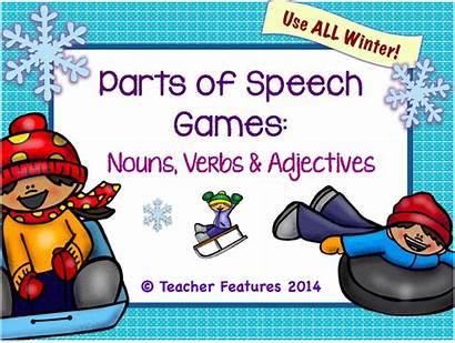 Games Speech Verbs Parts Grade 4th Nouns