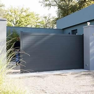 Installer Un Portail : pose d 39 un portail coulissant leroy merlin ~ Premium-room.com Idées de Décoration