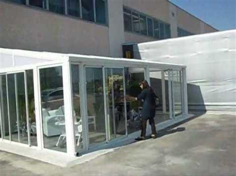 veranda  alluminio  ante scorrevoli modello tiffany