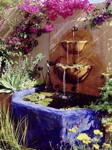 mexican wall fountain decor pottery outdoor accents