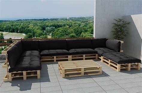 canapé avec des palettes salon de jardin fait avec des palettes inspirations avec