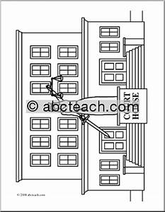 of 1 coloring page building coloring page city clip art ...