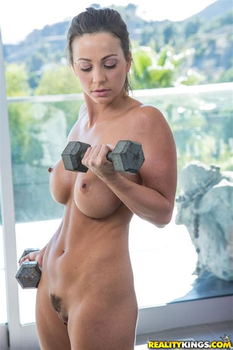 Sporty Chick Is Doing Workout Naked Photos Abigail Mac