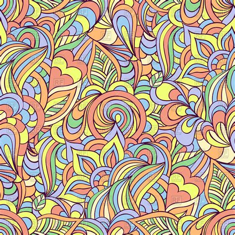 seamless doodle floral background vector image