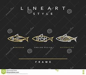 Icon Fish. Emblem Sea Fish For Menu Design Stock Vector ...
