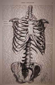 Skeleton Art Print by K I T K I N G