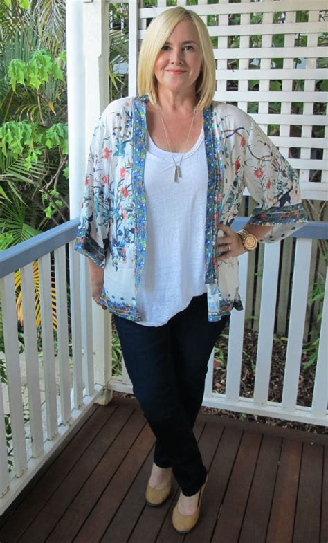 How a cape or kimono jacket can lift a basic outfit