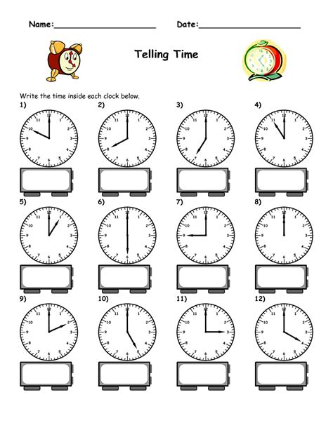 maths worksheets blank clock faces grade 2 telling time