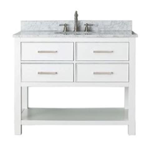 brooks white 42 inch vanity combo with carrera white