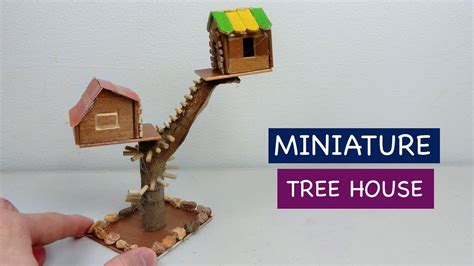 diy miniature tree house     fairy house
