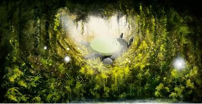 Totoro Ghibli Studio Neighbor Desktop Wallpapers Background