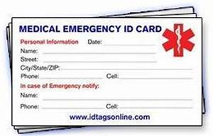 bye bye bella flora medical id options links With medical alert card template