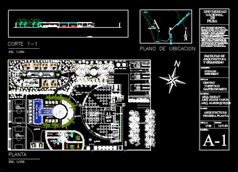 center  gastronomy  dwg design plan  autocad