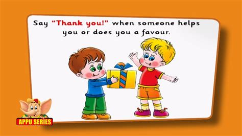 flashcards  children good manners youtube