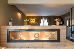 amenagement et decoration sejour et hall sabine georges With meuble bar design contemporain 0 hegenbart meuble sur mesure pour sejour et entree
