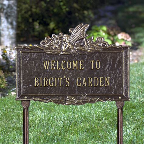 welcome personalized garden plaque