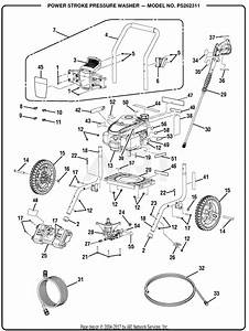 Homelite Ps262311 Pressure Washer Parts Diagram For Power