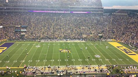 tiger stadium section  row  seat  lsu tigers  southern  golden eagles shared