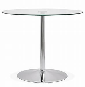 Petite Table En Verre : petite table de cuisine ronde youpi en verre 90 cm ~ Teatrodelosmanantiales.com Idées de Décoration