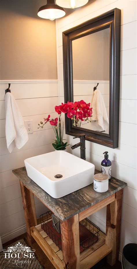 ana white shiplap bathroom diy vanity diy projects
