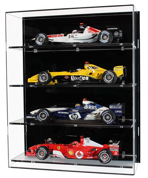 scale model display cabinet 1 18 scale model f1 car display cabinet with four shelves