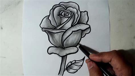 draw  rose pencil drawing shading