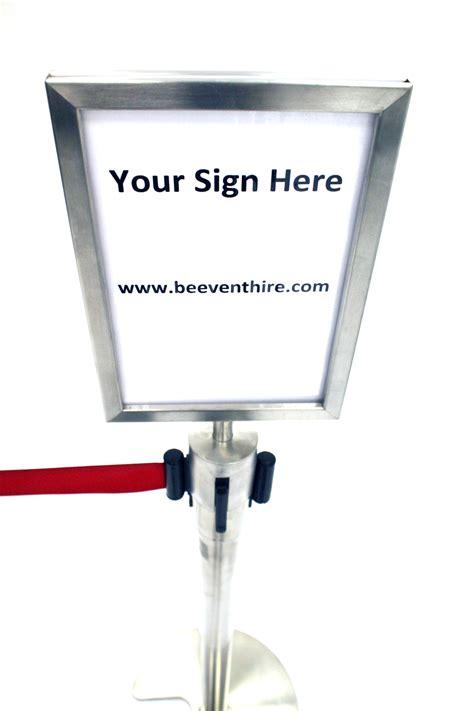 stretch barrier sign holder  hire