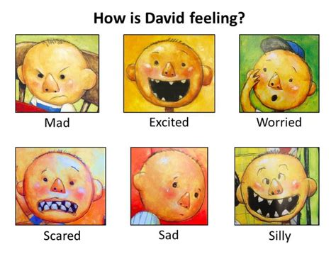 64 best reading characters images on reading 746 | 3452a4206713c686b8dcc3b0820785a1 emotions preschool david goes to school activities