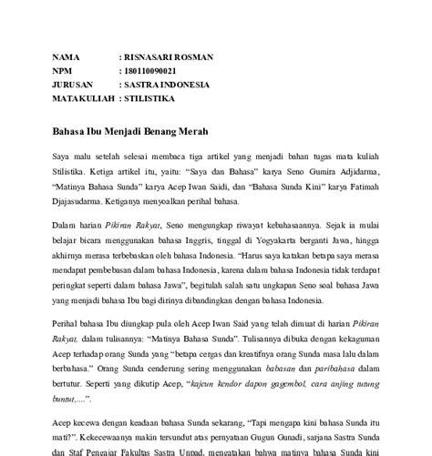 Tapi,réa kénéh laku lampah urang nu sok ngalebarkeun cai, nyieun cai nu beresih beuki hésé. Contoh Artikel Bahasa Sunda Tentang Kesehatan - Contoh Artikel Bahasa Sunda Contoh Now Cute766 ...