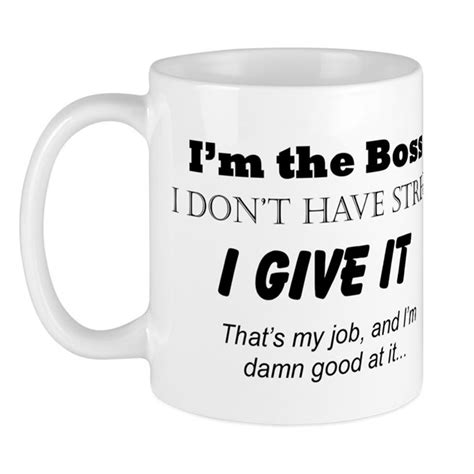 Let the puns and sayings do the talking while their caffeine kicks in. I'm the Boss Mug by thesavvysense