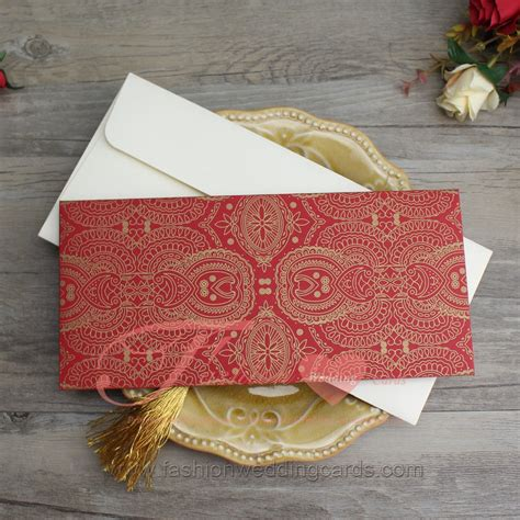 gold red nepali paper marriage invitation design wedding