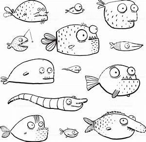 Dessin De Piscine : black outline lhumour piscine poissons collection de ~ Melissatoandfro.com Idées de Décoration